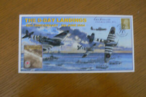 2004 CAMBRIDGE FDC D-DAY LANDINGS SIGNED BY DAMBUSTER LES MUNRO