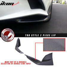 For 14+ Lexus IS250 IS350 TR Style 2 Piece Front Splitters Lip Carbon