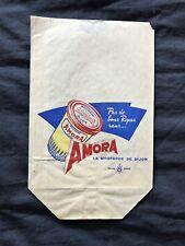 tres rare sac papier publicitaire ancien AMORA MOUTARDE DE DIJON