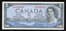 1954 Bank of Canada $5 - Devil's Face Note S/N: D/C6302015 - Fresh AU