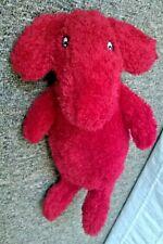 "Vintage Ikea Tassa Red Aardvark Anteater Dog 12"" Plush Floppy Soft Toy 17596"