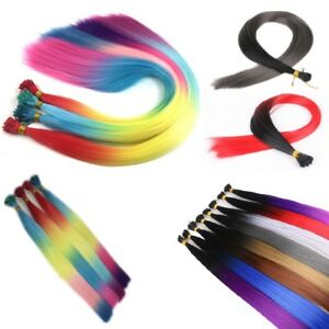 22'' Colourful Rainbow Feather Hair Extensions 8 Colours Plus Free Micro Beads