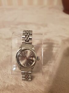 Rolex, Lady's Steel Oyster Perpetual Date Ref 6916, Dial gray with sunburst