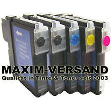 Drucker-Patronen Set 5x für Brother LC-1100BK LC-1100C LC-1100Y LC-1100M