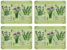 NEW Set of 4 Dining Table Placemats and Coasters Fresh Herbs
