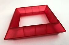 """WEDGiTS On WHEELS Building Block Replacement Part Red Single Piece 4 7/8"""""""