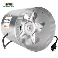 """iPower 4"""" 6"""" 8"""" inch Inline Duct Booster Fan Ventilation Exhaust Air Blower"""