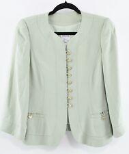 ARMANI COLLEZIONI Women's Blazer Jacket, Mint Green, size UK 10 / IT 42