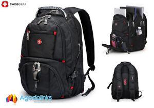 "Wenger SwissGear Backpack Laptop Notebook 17.1"" Schoolbag Black 8112"
