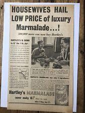 HARTLEY'S MARMALADE ORIGINAL 1937 DAILY EXPRESS NEWSPAPER ADVERT