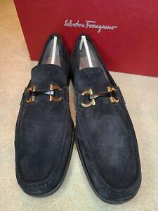 100%authentic Salvatore Ferragamo Grandioso Suede Loafer, shoes sz 12 E