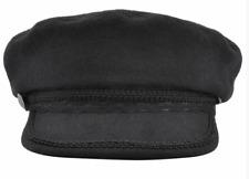 Wool Fiddler Cap 1960s Style Breton Captain Hat