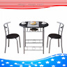 PVC Breakfast Table (One Table and Two Chairs) for  Living Room Garden Kitchen