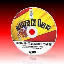 Aprender español curso de lengua fácil pc-cd programa para principiantes Mp3 Audio + Texto Nuevo