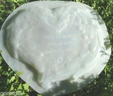 "plastic angel wings heart mold concrete plaster mould 11"" x 9"" x 1/2"" thick"