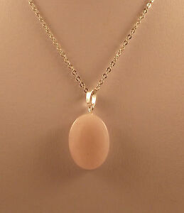 """Various semi precious gemstone oval pendants and 18"""" silver plated chains."""