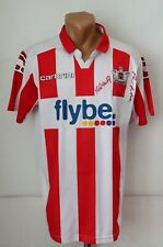 EXETER CITY 2011/2012 HOME FOOTBALL SHIRT SOCCER JERSEY TOP SIGNED CARBRINI M
