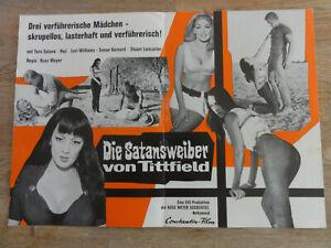 Werberatschlag DIE SATANSWEIBER VON TITTFIELD Russ Meyer Erotik Kult