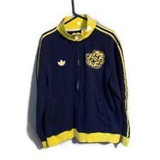 Vintage XL Michigan Wolverines Embroidered Adidas Zip Up Jacket NCAA College 195