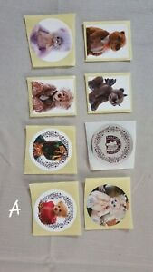 Charlie Bears Stickers. Set A. 8 stickers.