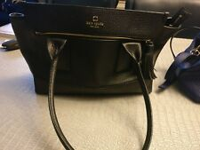 Gently Used black 100% leather Kate Spade large handbag