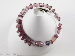 Purple, Lilac, Pink Beaded Bracelets - Handmade - Gemstone, Swarovski Crystal