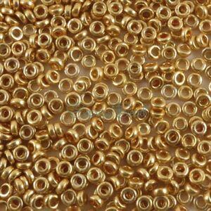 Miyuki SPACER Seed O Beads 3x1.3 mm O-Beads Flat Ring 8 gr