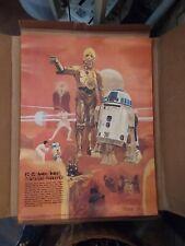 Original R2-D2 / C-3PO Poster - STAR WARS BURGER CHEF COCA-COLA (1977) - MINT!