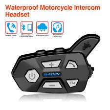2 Set Wayxin 1KM IP67 Motorbike Helmet Bluetooth Intercom Headset Music FM Radio