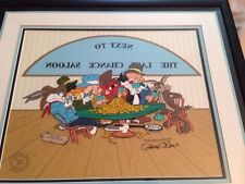 Bugs Bunny Next to last chance Saloon Bugs Bunny signed Chuck Jones Daffy