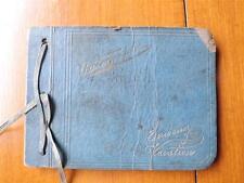 AUTOGRAPH BOOK SOUVENIRS OF MY VACATION VINTAGE 1925 1926 1927