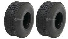 2 New 15x6.00-6 Turf Saver Tires, 4 Ply, for Mower, Gocart
