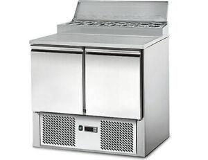 (INAKTIV) Saladette / Zubereitungstisch ECO - 0,9 x 0,7 m - mit 2 Türen