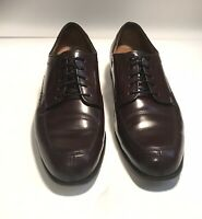 Florsheim All Flex Men's Burgundy Derby Apron Split Toe Shoes Sz 11 D D18152-05