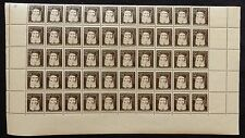 n°82) planche x50 Timbres n°601 (GOUNOD) 1944 Neuf**MNH