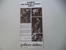 advertising Pubblicità 1972 PELLICCE DELLERA