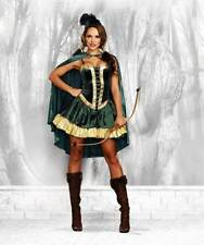 Merry Bandit Robin Hood Caped Archer Outfit Fairy Tales Costume Adult Women XL