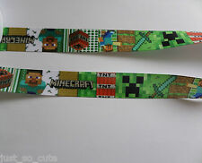 minecraft ribbon 1 metre -crafts - hair bows - dummy clips -cakes - sewing (3)