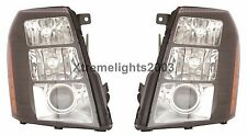 CADILLAC ESCALADE 2007 2008 2009 PAIR BLACK HID HEADLIGHTS HEAD LAMPS LIGHTS