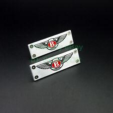 Pair Aluminium Alloy Car Floor Mat Carpet logo badge emblem Fits Bentley Edition