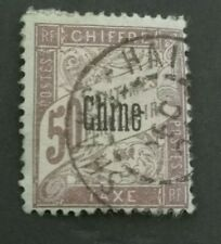 1901 Postage Due stamps of France optd Chine 50c red used nice example