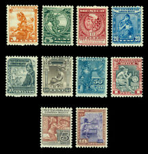 MEXICO 1934 Nat. University issue set AZTECS  5c -10p Sc# 698-706 mint MLH VF-XF