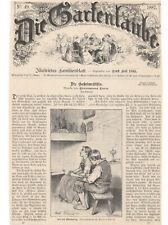 SCHMID Mathias - Nikolaustag - 1887 - alter Druck - Holzschnitt - Gartenlaube