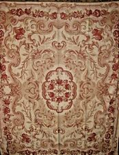 NEW $59 Kirklands throw blanket chenille Shabby Tan chic roses brick Red Floral
