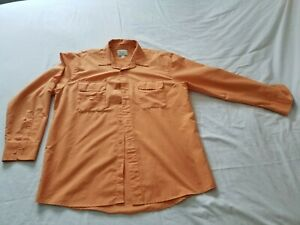 Cabela's Outdoor Genuine Quality Orange Mens Size L Outerwear Breathable Shirt