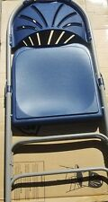 Polyfold Fan Back Folding Chair w/ Plastic w/ Double Hinges 4 Chairs