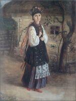 """stunning  oil painting handpainted on canvas """"Ukrainian women"""""""