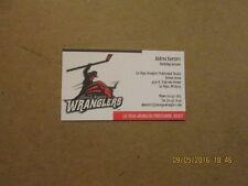 ECHL Las Vegas Wranglers Vintage Defunct Business Card