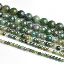 Natural Green Aquatic Agate Round Gemstone Loose Spacer Beads 4/6/8/10 /12MM