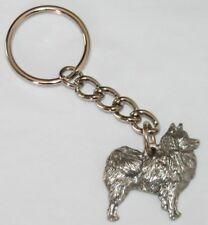 American Eskimo Dog Fine Pewter Keychain Key Chain Ring